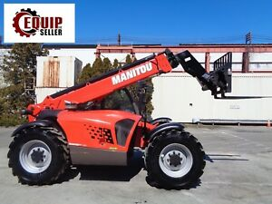 Unused 2017 Manitou Mt932 7 000lbs Telescopic Forklift 8 Hours 4x4 Enclosed