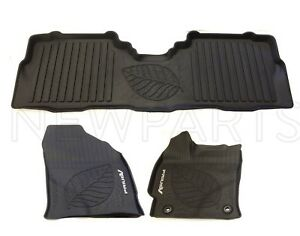 For Toyota Prius V 2012 2017 Set Of 3 Black Floor Liners All Weather Floor Mats
