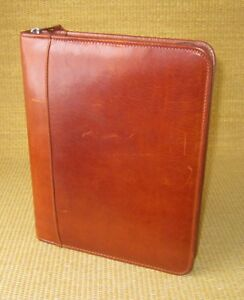Classic 1 125 Rings Brown Leather Franklin Covey demo Planner binder