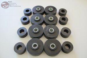 60 64 Impala Body Mount Frame Rubber Bushing Insert Kit Set Fullsize Chevy New