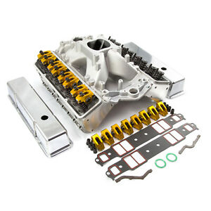 Fit Chevy Sbc 350 Straight Plug Solid Roller Cnc Cylinder Head Top End Engin