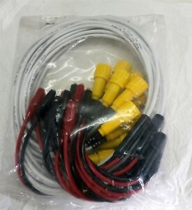 Ct2062 4mm Standard Straight Banana Plug To Plug Test Lead 18 Awg 12 Amp yellow