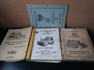 Vintage Crawler Tractor Manuals 4 Allis Chalmers Hd6g Ts6 Case 750 Ih Ud14a