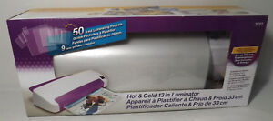 Purple Cows Hot Cold 13 Laminator With 50 3mil Laminating Pockets 3027 New