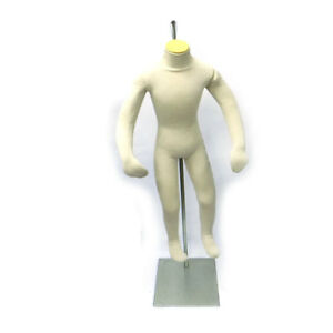44 Youth Unisex Bendable Mannequin With Flexible Shoulders Arms Hands