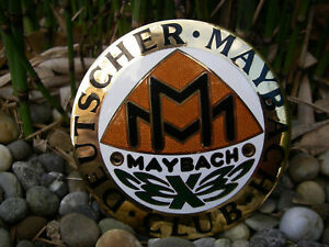 Vintage German Deutscher Maybach Club Enamel Automobile Club Car Badge