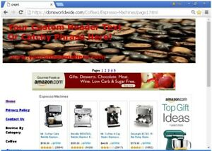 Coffee Shop Online Business Website For Sale Free Setup domain bonuses Plus