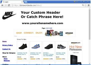 Nike Online Business Website For Sale Free Install setup domain Plus Bonuses