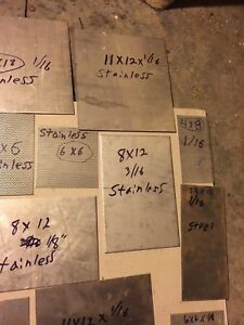 Two Sheets 1 8 X 11 X 12 Stainless Steel Plate 39 99 Free Shipping