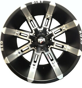 20x12 Black Machined Thunder 8x6 5 44 Rims Country Hunter Mt 37 Tires