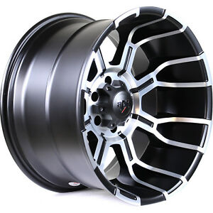 20x12 Black Machined Lander 6x5 5 44 Wheels Country Hunter Mt 33 Tires