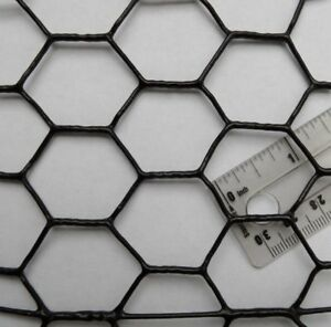 Chicken Wire Fence Pvc Coated Uv 1 Hex 5 X 150 Poultry Aviary Bird Fencing