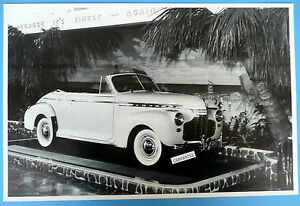 1941 Chevrolet Special Deluxe Convertible 12 X 18 Black White Picture