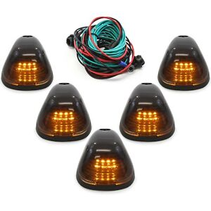 5 Smoke Cab Marker Light W Amber Led Assembly Wiring For 99 16 Ford 150 550