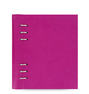 Filofax A5 Clipbook Leather look Refillable Notebook Diary Fuchsia 023617 Gift