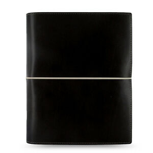 Filofax A5 Domino Organiser Planner Notebook Diary Black Leather 027868 Gift