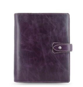 Filofax A5 Size Malden Organiser Planner Diary Purple Leather 025851 Gift