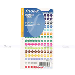 Filofax Personal a5 a4 Size Organiser Stickers Notepaper Refill Gift 130137