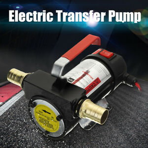 12v Portable Fuel Diesel Pump Oil Transfer Pump Self Priming Set 50l min 220w