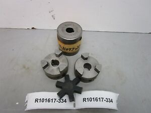 Lot Of 2 Browning 3 Jaw Motor Shaft Coupler Reducer Set Chjp4 5 8 To 5 8