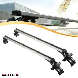 Autex 48 Universal Aluminum Car Roof Top Rail Rack Cross Bars Luggage Carrier