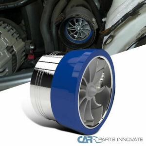 3 Air Intake Turbonator Turbo Fan Fuel Saver Kit W Blue Rubber Holder