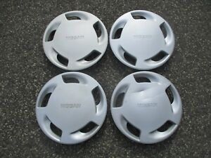 Genuine 1990 To 1993 Nissan Axxess 14 Inch Hubcaps Wheel Covers Set