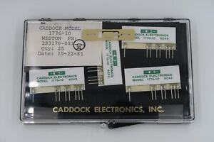 Lot Of 4 Caddock 1776 10 Precision Decade Resistor Voltage Dividers New