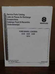 Oem Ford A 62 A 64 A 66 Wheel Front End Loader Parts Catalog Manual Fto17232