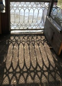 Large Antique Beveled Glass Transom Window 44 By 36 Circa 1900