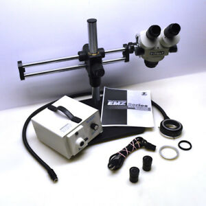 Meiji Emz 5 Stereo Zoom Microscope boom Stand fo Fiber Ring Light refurbished