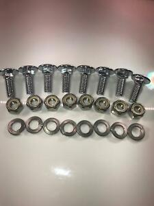 Chrome Bumper Bolts 5 16 18 7 8 Rounded Head 8 Pcs