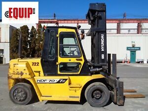 Hyundai Hdf70 75 Forklift Side Shift Fork Positioners Cab Diesel 15 000lbs