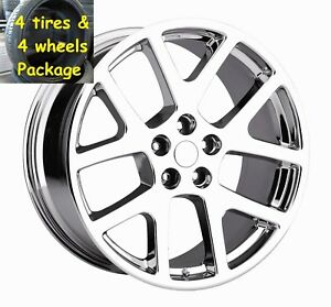 4 20 Staggered Tires Wheels Package Chrome Viper Charger Challenger Magnum 300