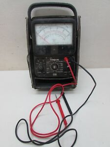 Vintage Simpson 260 Series 6 Volt Ohm Meter Electrical Testing Equipment Tool
