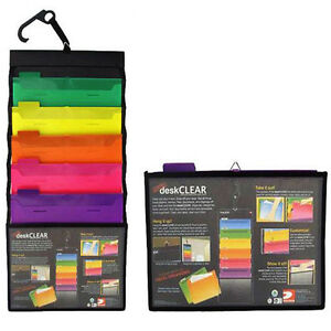 6 Pocket Cascading Wall File Organizer Office A4 Document Letter Storage