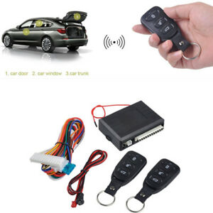 Car Remote Central Door Lock Locking Keyless Entry System 2pc Remote Controllers
