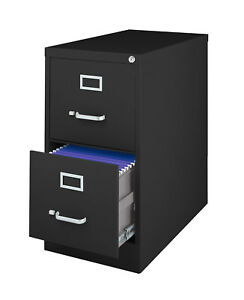 Offex Office Metal 2 Drawer Letter sized Vertical File Storage Cabinet Black