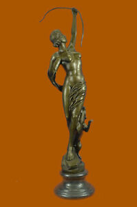 Clearance Sale Diane The Hunter With Her Faithful Dog Bronze Sculpture Statue
