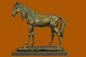 Clearance Sale Arabian Horse Trophy Stallion Mare Bronze Sculpture Marble Figure