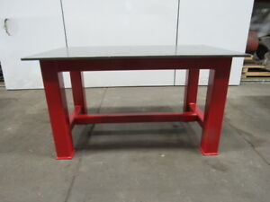 H d 5 8 Thick Top Steel Fabrication Layout Welding Table Work Bench 59 X 35