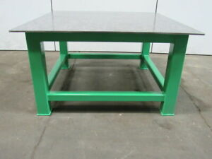 H d 1 2 Thick Top Steel Fabrication Layout Welding Table Work Bench 60 X 60