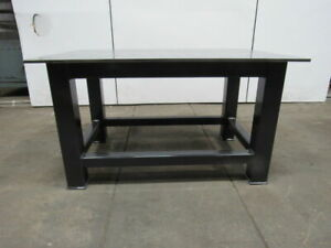 H d 1 2 Thick Top Steel Fabrication Layout Welding Table Work Bench 59 X 39
