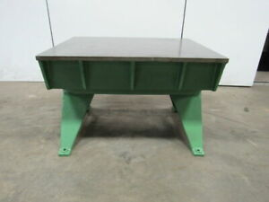 Vtg Cast Iron Welding Layout Inspection Work Table Bench 47 1 2 x36 x31 Web Top