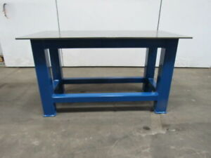 H d 1 2 Thick Top Steel Fabrication Layout Welding Table Work Bench 59 X 29