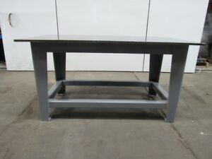 H d 3 4 Thick Top Steel Fabrication Layout Welding Table Work Bench 63 X 36