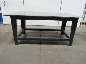 H d 5 8 Thick Top Steel Fabrication Layout Welding Table Work Bench 71 X 40