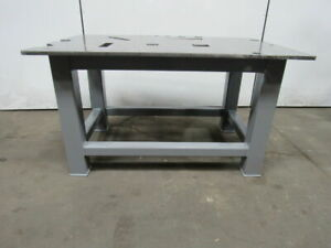 H d 3 4 Thick Top Steel Fabrication Layout Welding Table Work Bench 60 X 39