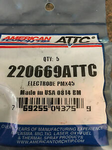 220669 Plasma Cutting Consumable Electrode Pmx45 Hypertherm Powermax 45