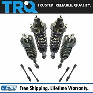 Trq 8 Pc Front Rear Suspension Kit Strut Spring Assemblies Sway Bar End Links